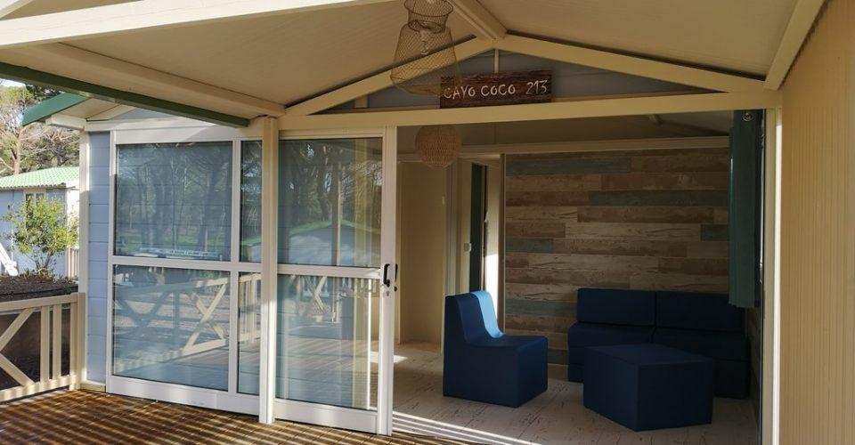 chalet avec terrasse couverte